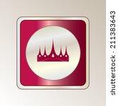 round button. vector icon flat... | Shutterstock .eps vector #211383643