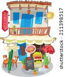 traditional mediterranean... | Shutterstock .eps vector #211398517