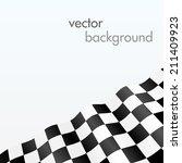 checker flag background   Shutterstock .eps vector #211409923