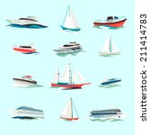 marine boats cruise sea travel... | Shutterstock .eps vector #211414783