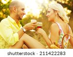 romantic picnic concept.... | Shutterstock . vector #211422283