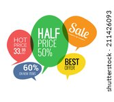 sale and discounts speech... | Shutterstock .eps vector #211426093