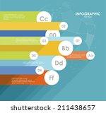 flat line infographics design | Shutterstock .eps vector #211438657