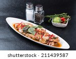 spicy stir fried clams sea food ... | Shutterstock . vector #211439587