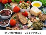 assortment of delicious... | Shutterstock . vector #211444573