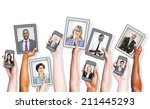 business people and social... | Shutterstock . vector #211445293