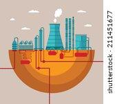 vector concept of refinery... | Shutterstock .eps vector #211451677