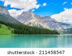 majestic mountain lake in... | Shutterstock . vector #211458547