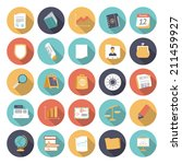 flat design icons for business... | Shutterstock .eps vector #211459927