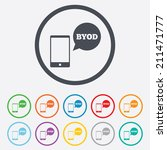 byod sign icon. bring your own...   Shutterstock .eps vector #211471777