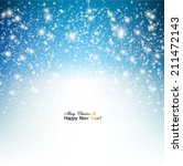 elegant christmas background... | Shutterstock .eps vector #211472143