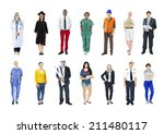 group of multiethnic mixed... | Shutterstock . vector #211480117