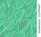 seamless green pattern with... | Shutterstock .eps vector #211494607