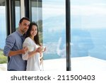 romantic happy young couple... | Shutterstock . vector #211500403