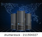 illustration of server with... | Shutterstock .eps vector #211504327
