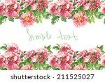 watercolor handmade horizontal...   Shutterstock . vector #211525027