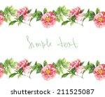 watercolor handmade horizontal... | Shutterstock . vector #211525087