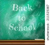 back to school template design. ... | Shutterstock .eps vector #211525387