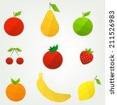 flat fruit set | Shutterstock .eps vector #211526983