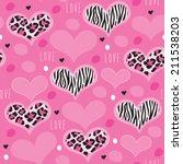 Pink Leopard Zebra Pattern...
