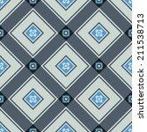 seamless blue square tiles... | Shutterstock .eps vector #211538713