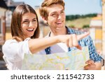look over there  happy young... | Shutterstock . vector #211542733
