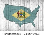 delaware flag with america map... | Shutterstock . vector #211549963