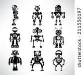 robot icons set | Shutterstock .eps vector #211550197