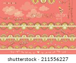 cute colorful flag banner... | Shutterstock .eps vector #211556227