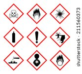 warning labels of chemicals  ... | Shutterstock . vector #211560373