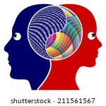 rationality or creativity. the...   Shutterstock . vector #211561567