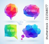 colorful geometric bubbles for... | Shutterstock .eps vector #211568077