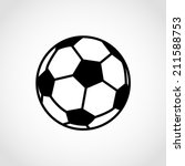 soccer ball icon isolated on... | Shutterstock .eps vector #211588753