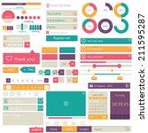 flat elements design   user... | Shutterstock .eps vector #211595287