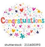 congratulations typography... | Shutterstock .eps vector #211600393