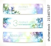 set of fantasy vector banners.  | Shutterstock .eps vector #211607137