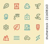 green ecology web icon set 3 ...   Shutterstock .eps vector #211608163
