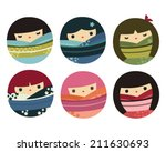 set of round japanese kokeshi...