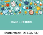 back to school flat... | Shutterstock .eps vector #211637737