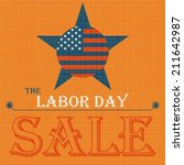 labor day sale american sign | Shutterstock .eps vector #211642987