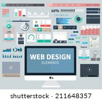 set of flat design concepts for ... | Shutterstock .eps vector #211648357