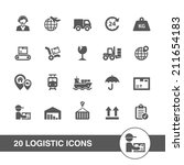 logistic icons set. | Shutterstock .eps vector #211654183