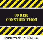 under construction design | Shutterstock .eps vector #211661053