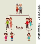 family  design over yellow... | Shutterstock .eps vector #211669333
