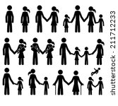 man  woman  couple  family  old ... | Shutterstock .eps vector #211712233