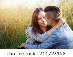 happy smiling young couple... | Shutterstock . vector #211726153