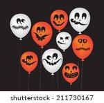 halloween ghost balloons | Shutterstock .eps vector #211730167