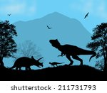 Dinosaurs Silhouettes  ...