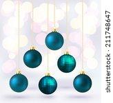 Blue Christmas Bauble Card...