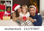 christmas time with loving... | Shutterstock . vector #211757857
